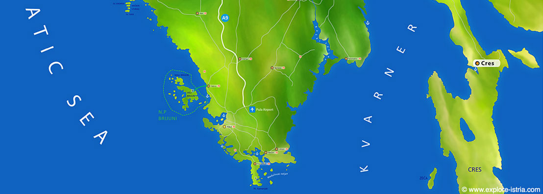 Istrien Karte